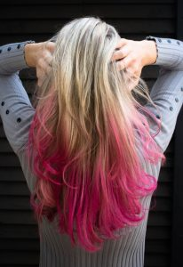 Picture of Vibrant Pink Dyed hair